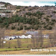 Sellos: ANDORRA ESPAÑOLA 2021 PAISAJES BORDA DE L´ANY DE LA PART - NUEVO MNH. Lote 262306060
