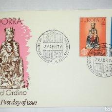 Sellos: ANDORRA ESPAÑOLA 1974 EDIFIL 89/90 EUROPA CEPT SOBRE PRIMER DIA SPD. Lote 266992514