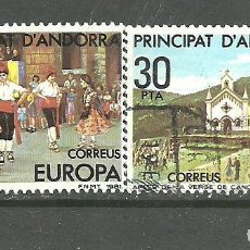 Sellos: ANDORRA ESPAÑOLA 1981 - EDIFIL NRO. 140-41 - USADO -. Lote 268413844