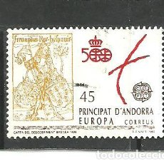 Sellos: ANDORRA ESPAÑOLA 1991 - EDIFIL NRO. 231 - USADO -. Lote 268414564