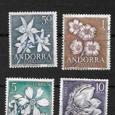 Sellos: FLORES DE ANDORRA. SELLOS EMIT. 10-6-1966. Lote 268815269