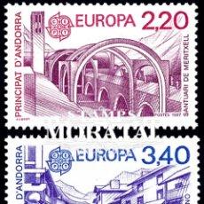 Sellos: [27] 1987 ANDORRA FRANCESA YV 358/359 EUROPA CEPT ** MNH PERFECTO ESTADO (YVERT&TELLIER). Lote 270748728