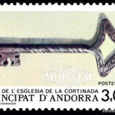 Sellos: [27] 1987 ANDORRA FRANCESA YV 365 LLAVE IGLESIA DE LA CORTINADA ** MNH PERFECTO ESTADO (YVERT&TEL. Lote 270748788