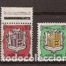 Sellos: ANDORRA FRANCESA - ESCUDOS 1961/64 - YVERT 155/155A USADO. Lote 276358103