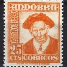 Selos: ANDORRA ESPAÑOLA 1951 - ICONOS NACIONALES, CONSEJERO GENERAL - MH*. Lote 279382983