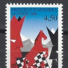 Selos: ANDORRA FRANCESA 1996 - AJEDREZ - MNH**. Lote 282475558