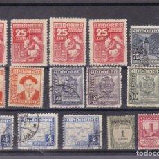Selos: FC3-73- LOTE SELLOS ANTIGUOS ANDORRA + 100 EUROS. Lote 286760418