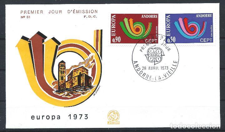 ANDORRE - FDC ENVELOPPE 28/4/1973 - N°226/27 EUROPA (Sellos - Extranjero - Europa - Andorra)