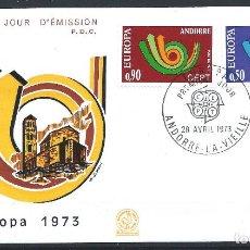 Sellos: ANDORRE - FDC ENVELOPPE 28/4/1973 - N°226/27 EUROPA. Lote 288427588