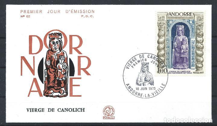 ANDORRE - FDC ENVELOPPE 16/6/1973 - N°228 VIERGE DE CANOLICH (Sellos - Extranjero - Europa - Andorra)