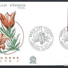 "Sellos: ANDORRE - FDC ENVELOPPE 7/7/1973 - N°229 FLORE ""LYS"". Lote 288428793"