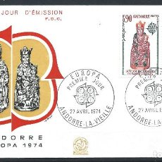 """Sellos: ANDORRE - FDC ENVELOPPE 27/4/1974 - N°237/38 EUROPA """"SCULPTURES"""". Lote 288862053"""