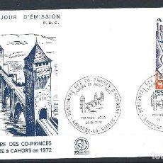 Sellos: ANDORRE - FDC ENVELOPPE 24/8/1974 - N°239 RENCONTRE DES CO-PRINCE D'ANDORRE. Lote 288862668