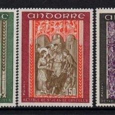 Sellos: ANDORRA 214/16** - AÑO 1971 - PINTURA - RETABLO DE LA CAPILLA DE SAN JUAN DE CASELLES. Lote 289328918