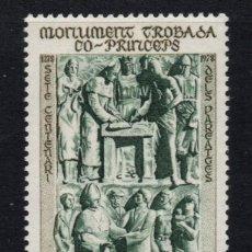 Sellos: ANDORRA 280** - AÑO 1979 - 700º ANIVERSARIO DEL CO-PRINCIPADO DE ANDORRA. Lote 289329823