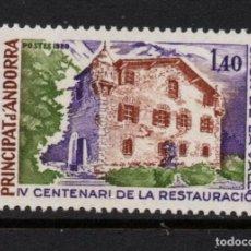 Sellos: ANDORRA 289** - AÑO 1980 - 4º CENTENARIO DE LA RESTAURACION DE LA CASA DEL VALLEES. Lote 289330653