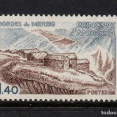 Sellos: ANDORRA 291** - AÑO 1981 - ARQUITECTURA - LOS BORDES DE MEREIG. Lote 289330948