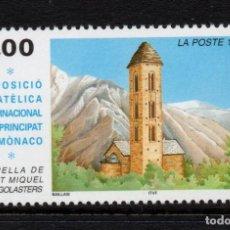 Sellos: ANDORRA 496** - AÑO 1997 - CAPILLA DE SAINT MICHEL, ENGOLASTERS. Lote 289331613
