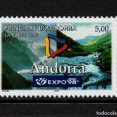Sellos: ANDORRA 505** - AÑO 1998 - EXPO 98, EXPOSICIÓN UNIVERSAL DE LISBOA. Lote 289331953
