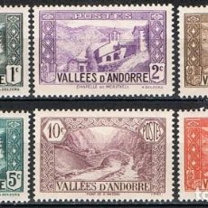 Sellos: [C0560] ANDORRA FRANCESA 1932, SERIE TURISMO. CRUZ DE MERITXELL (MH). Lote 289535208