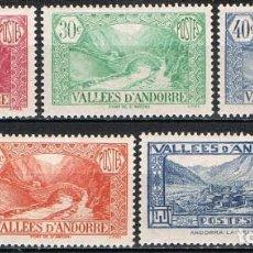 Sellos: [C0561] ANDORRA FRANCESA 1932, LOTE TURISMO (MH*). Lote 289535948