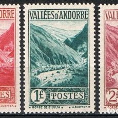 Sellos: [C0563] ANDORRA FRANCESA 1932-33, LOTE PAISAJES (MH*). Lote 289586238