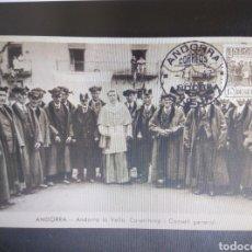 Sellos: TARJETA MÁXIMA ANDORRA ESPAÑOLA 1947. EDIFIL 43. 10 PTS. CONSEJO GENERAL.RARA. Lote 293587633