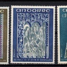 Sellos: ANDORRA 221/23** - AÑO 1972 - PINTURA - RETABLO DE LA CAPILLA DE SAN JUAN DE CASELLES. Lote 293827903
