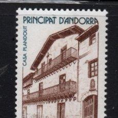 Sellos: ANDORRA 326** - AÑO 1983 - ARQUITECTURA DE ANDORRA - CASA PLANDOLIT. Lote 293829198