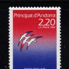 Sellos: ANDORRA 376** - AÑO 1989 - BICENTENARIO DE LA REVOLUCION FRANCESA. Lote 293829343
