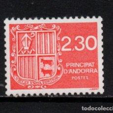 Sellos: ANDORRA 387** - AÑO 1990 - ESCUDO DE ANDORRA. Lote 293830303