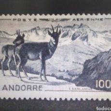 Sellos: SELLOS ANDORRA FRANCESA MH 1950 CORREO AÉREO. 100 FRANCOS. Lote 294560408