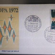 Sellos: SOBRE PRIMER DÍA ANDORRA ESPAÑOLA 1972 EUROPA CEPT. Lote 295442588