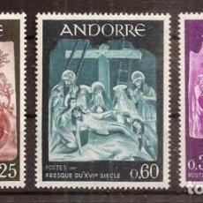 Sellos: ANDORRA FRANCESA. 1967. YVERT 184-186*** . PINTURA. Lote 295542398