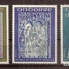 Sellos: ANDORRA FRANCESA. 1975. YVERT 221-223***. PINTURA. Lote 295542843