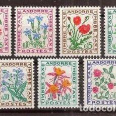 Sellos: ANDORRA FRANCESA. 1964-721. YVERT TASAS 46-52***.. Lote 295543283