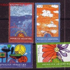 Sellos: ARGENTINA 2174/77** - AÑO 2000 - DIBUJOS INFANTILES. Lote 27525114