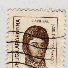 Sellos: SELLO USADO ARGENTINA GENERAL JOSE DE SAN MARTIN 25 C. Lote 10949455
