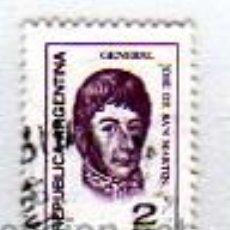 Sellos: REPÚBLICA ARGENTINA - 2 PESOS - GENERAL JOSÉ DE SAN MARTIN. Lote 13591709