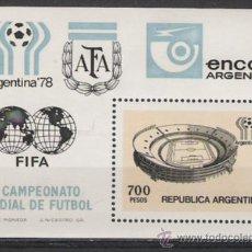 Sellos: ARGENTINA HOJA BLOQUE DEL XI CAMPEONATO MUNDIAL DE FUTBOL. Lote 175521230