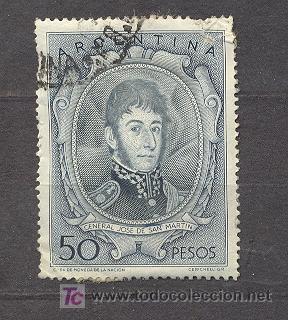 ARGENTINA, GENERAL JOSE DE SAN MARTIN (Sellos - Extranjero - América - Argentina)