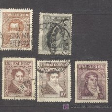 Sellos: ARGENTINA, 5 SELLOS USADOS. Lote 26946863