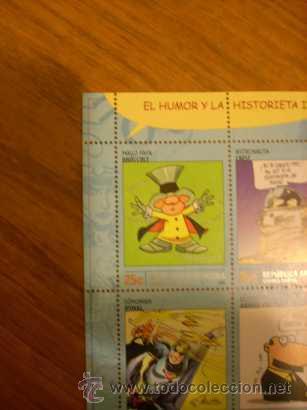 Sellos: PLANCHA DE 8 SELLOS -EL HUMOR Y LA HISTORIETA- (2003) MAGO FAFA, HIJITUS, SONOMAN, DIOGENES - Foto 2 - 20548296