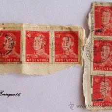 Sellos: ARGENTINA GRAL SAN MARTIN 1959 1962 40 C - 6 STAMPS SELLOS. . Lote 21161045