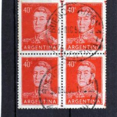 Sellos: SELLOS EN BLOQUE DE 4 DE ARGENTINA AÑO 1958 USADOS. Lote 23246609