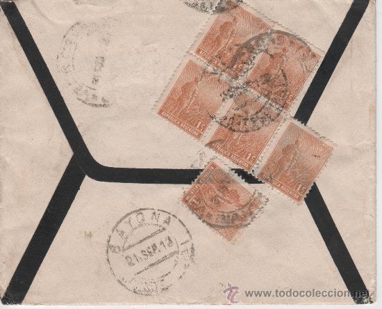 Sellos: SOBRE REPUBLICA ARGENTINA - VIGO - BAYONA - 21 SEPTIEMBRE 1913 - Foto 2 - 24322735