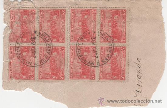 8 SELLOS REPUBLICA ARGENCINA - MATASELLADOS EL 24 NOVIEMBRE 1916 (Sellos - Extranjero - América - Argentina)