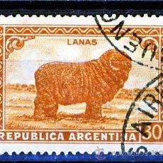 Sellos: ARGENTINA.- LANAS.-(2). Lote 30113284