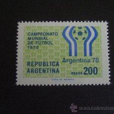 Sellos: ARGENTINA Nº YVERT 1110***AÑO 1978. CAMPEONATO DEL MUNDO DE FUTBOL. Lote 31150653