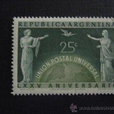 Sellos: ARGENTINA Nº YVERT 502***AÑO 1949. 75 ANIVERSARIO DE LA UPU. Lote 31295518